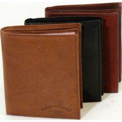 Jasno brązowy Portfel męski Bag Street - skórzany. Brązowe portfele męskie Bag Street, z materiału. Za 44,90 zł.