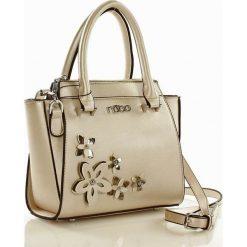Listonoszki damskie: Mini kuferek torebka perłowy HARMONY
