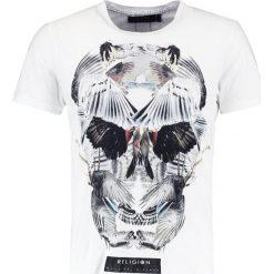 T-shirty męskie z nadrukiem: Religion WINGS SKULL TEE Tshirt z nadrukiem white