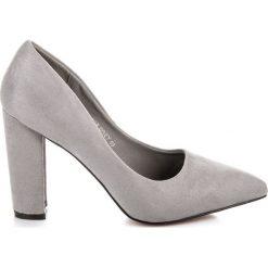 Buty ślubne damskie: ZAMSZOWE CZÓŁENKA NA SŁUPKU