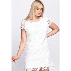 Sukienki: Biała Sukienka Hibiscus