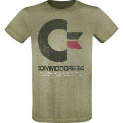 Commodore 64 64K Vintage T-Shirt odcienie zielonego. Zielone t-shirty męskie z nadrukiem marki Commodore 64, m, z okrągłym kołnierzem. Za 74,90 zł.