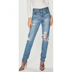 Levi's - Jeansy 501. Brązowe jeansy damskie rurki Levi's®, z bawełny, z podwyższonym stanem. Za 449,90 zł.