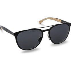 Okulary przeciwsłoneczne damskie aviatory: Okulary przeciwsłoneczne BOSS – 0882/S Matt Black 0S2