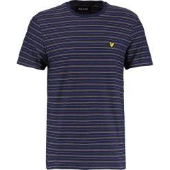 T-shirty męskie z nadrukiem: Lyle & Scott BUNGEE STRIPE Tshirt z nadrukiem navy