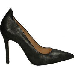 Czółenka - X012204 ANTRA. Czarne buty ślubne damskie Venezia, ze skóry. Za 179,00 zł.