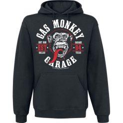 Gas Monkey Garage Round Seal Bluza z kapturem czarny. Czarne bejsbolówki męskie Gas Monkey Garage, s, z nadrukiem, z kapturem. Za 164,90 zł.