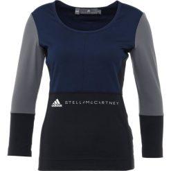Adidas by Stella McCartney Koszulka sportowa black/night indigo. Czarne bluzki sportowe damskie adidas by Stella McCartney, xs, z elastanu, z długim rękawem. Za 379,00 zł.