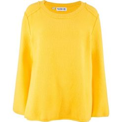 Sweter dzianinowy ze szwami na prawej stronie, z kolekcji Maite Kelly bonprix żółty kukurydziany. Żółte swetry klasyczne damskie marki Mohito, l, z dzianiny. Za 109,99 zł.