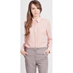 Bielizna damska: Różowa Klasyczna Koszula Damska z Krytym Zapięciem