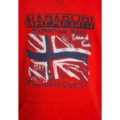 Napapijri BENDER  Bluza z kapturem bright red. Szare bluzy chłopięce rozpinane marki Napapijri, l, z materiału, z kapturem. Za 249,00 zł.