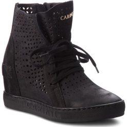 Sneakersy CARINII - B4412 360-000-000-B88. Czarne sneakersy damskie Carinii, z materiału. W wyprzedaży za 239,00 zł.