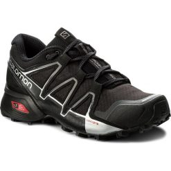 Buty SALOMON - Speedcross Vario 2 402390 27 V0 Black/Black/Silver Metallic-X. Czarne buty do biegania męskie Salomon, z materiału, na sznurówki, salomon speedcross. W wyprzedaży za 349,00 zł.
