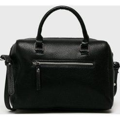 Pieces - Torebka. Czarne torebki klasyczne damskie Pieces, w paski, z materiału, średnie. Za 169,90 zł.