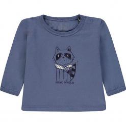 Koszulka w kolorze niebieskim. Białe t-shirty chłopięce z długim rękawem marki UP ALL NIGHT, z bawełny. W wyprzedaży za 49,95 zł.