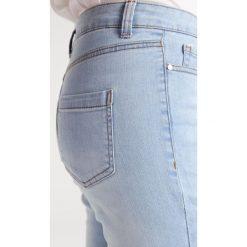 Missguided SINNER HIGH WAISTED RIPPED Jeans Skinny Fit stonewash. Niebieskie jeansy damskie marki Missguided. W wyprzedaży za 135,20 zł.
