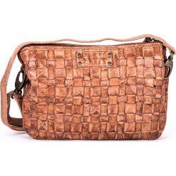 Torebki klasyczne damskie: Skórzana torebka w kolorze szarobrązowym – 25 x 17 x 8 cm