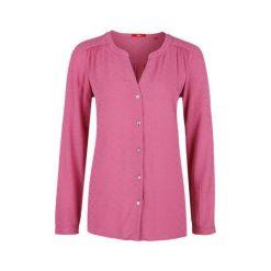 S.Oliver Bluzka Damska 42 Ciemnoczerwona. Różowe bluzki wizytowe marki S.Oliver, s, eleganckie, z klasycznym kołnierzykiem. W wyprzedaży za 116,00 zł.