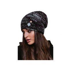 Czapka hauer KRAFF BLACK MELANGE hand made. Czarne czapki zimowe damskie marki Hauer, z nadrukiem, z polaru. Za 109,00 zł.