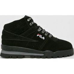 Fila - Buty Fitness Hiker Mid. Czarne buty fitness męskie Fila, z materiału, na sznurówki. W wyprzedaży za 399,90 zł.