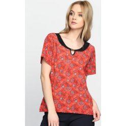 T-shirty damskie: Czerwony T-shirt Mould