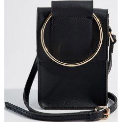 Torebka z okrągłym uchwytem - Czarny. Czarne torebki klasyczne damskie Mohito. Za 69,99 zł.