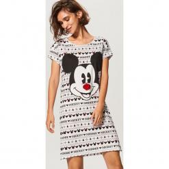 Koszula nocna Mickey Mouse - Biały. Białe koszule nocne i halki Reserved, z motywem z bajki. Za 59,99 zł.