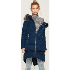 Płaszcz z kapturem - Granatowy. Niebieskie płaszcze damskie pastelowe Sinsay, l. Za 179,99 zł.