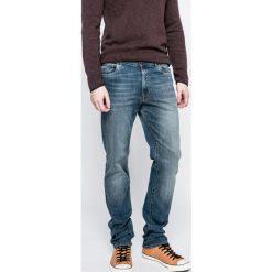 Trussardi Jeans - Jeansy 380. Niebieskie jeansy męskie slim Trussardi Jeans, z bawełny. W wyprzedaży za 399,90 zł.
