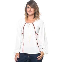 Bluzki damskie: Bluzka w kolorze biało-czerwonym
