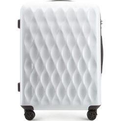Walizka średnia 56-3H-552-88. Białe walizki marki Wittchen, z gumy, małe. Za 199,00 zł.