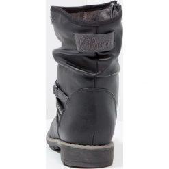 S.Oliver RED LABEL Botki black. Czarne botki damskie skórzane marki s.Oliver RED LABEL. W wyprzedaży za 161,85 zł.