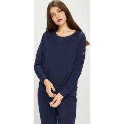 Lauren Ralph Lauren - Bluza piżamowa. Czarne piżamy damskie Lauren Ralph Lauren, l, z bawełny. Za 299,90 zł.