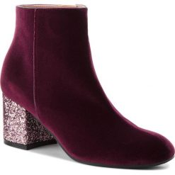 Botki POLLINI - SA21116G16TK155A  W.Ankle B. Czerwone buty zimowe damskie Pollini, z materiału, na obcasie. Za 1709,00 zł.