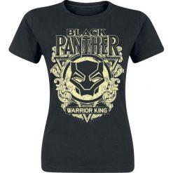 Bluzki asymetryczne: Black Panther Floral Mask Koszulka damska czarny