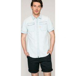 G-Star Raw - Koszula. Szare koszule męskie na spinki marki G-Star RAW, l, z bawełny, z klasycznym kołnierzykiem, z krótkim rękawem. W wyprzedaży za 269,90 zł.