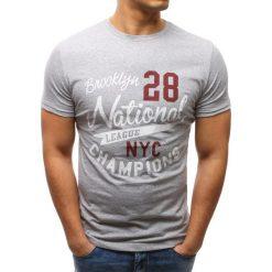 T-shirty męskie z nadrukiem: T-shirt męski z nadrukiem szary (rx2645)