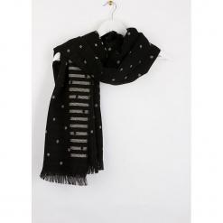 """Szal """"Bripois"""" w kolorze czarnym - 180 x 60 cm. Czarne szaliki damskie Scottage, z wełny. W wyprzedaży za 58,95 zł."""