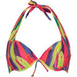 "Biustonosze bardotka: Biustonosz bikini ""Rainbow"" ze wzorem"