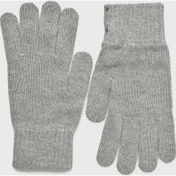 Mustang - Rękawiczki. Szare rękawiczki męskie Mustang, z bawełny. W wyprzedaży za 49,90 zł.