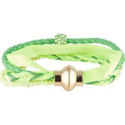 Bransoletki damskie: Bransoletka z kryształkami Swarovski w kolorze zielonym