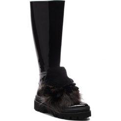 Kozaki BALDININI - 914504P13ZZARA0000 Zara Nero. Czarne buty zimowe damskie Baldinini, z lakierowanej skóry, na obcasie. Za 3219,00 zł.