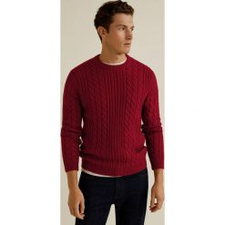 Mango Man - Sweter Morning. Brązowe swetry klasyczne męskie Mango Man, l, z dzianiny, z okrągłym kołnierzem. Za 199,90 zł.