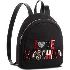Plecak LOVE MOSCHINO - JC4295PP06KN100A  Nero. Czarne plecaki damskie Love Moschino, z materiału, klasyczne. W wyprzedaży za 569,00 zł.