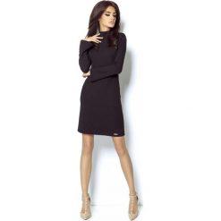 Czarna Sukienka z Wycięciem na Plecach. Niebieskie sukienki balowe marki ARTENGO, z elastanu, ze stójką. Za 199,90 zł.