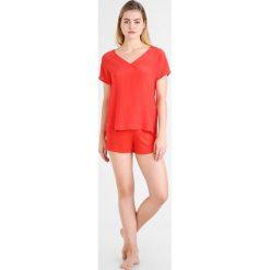 Hanro AYANA SET  Piżama orange red. Czerwone piżamy damskie Hanro, xs, z jedwabiu. W wyprzedaży za 408,85 zł.