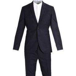 KIOMI Garnitur dark blue. Niebieskie garnitury KIOMI, z materiału. W wyprzedaży za 439,20 zł.