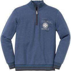 Bluza ze stójką Regular Fit bonprix indygo. Niebieskie bejsbolówki męskie bonprix, l, z nadrukiem. Za 109,99 zł.