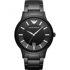 Zegarek EMPORIO ARMANI - Renato AR11079  Black/Black. Czarne zegarki męskie marki Emporio Armani. Za 1590,00 zł.