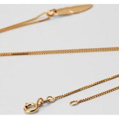 Biżuteria i zegarki: MALAIKARAISS NECKLACE FEATHER Naszyjnik goldcoloured